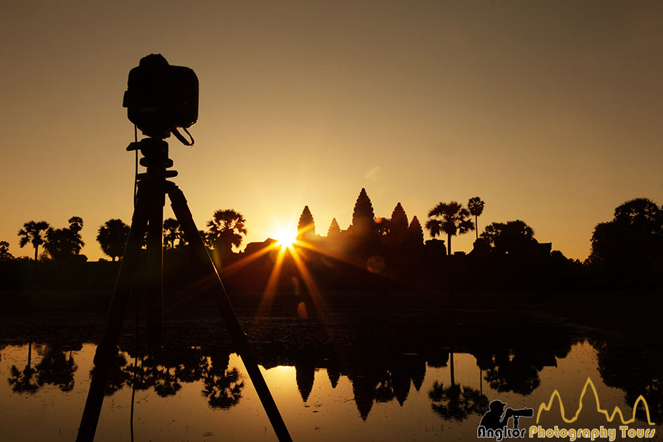 DSLR monopod angkor wat sunrise photography tour