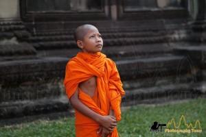 Novice monk Angkor Photography Tours