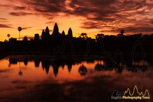 Angkor Wat golden sunrise Angkor Photography Tours