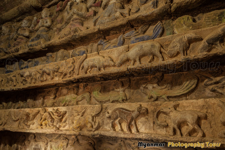 Shittaung temple wall carvings angkor wat photography