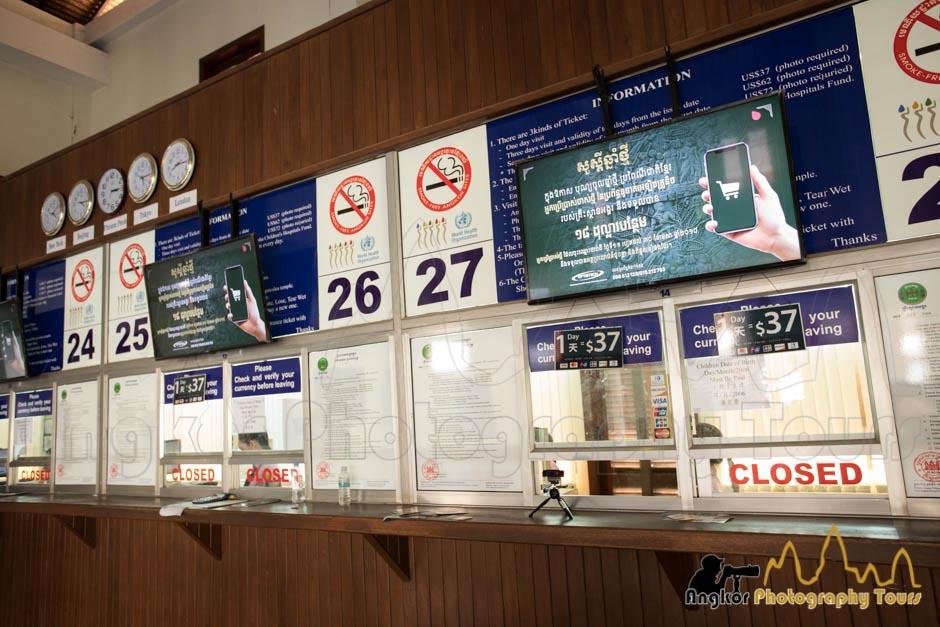 angkor wat ticket counters